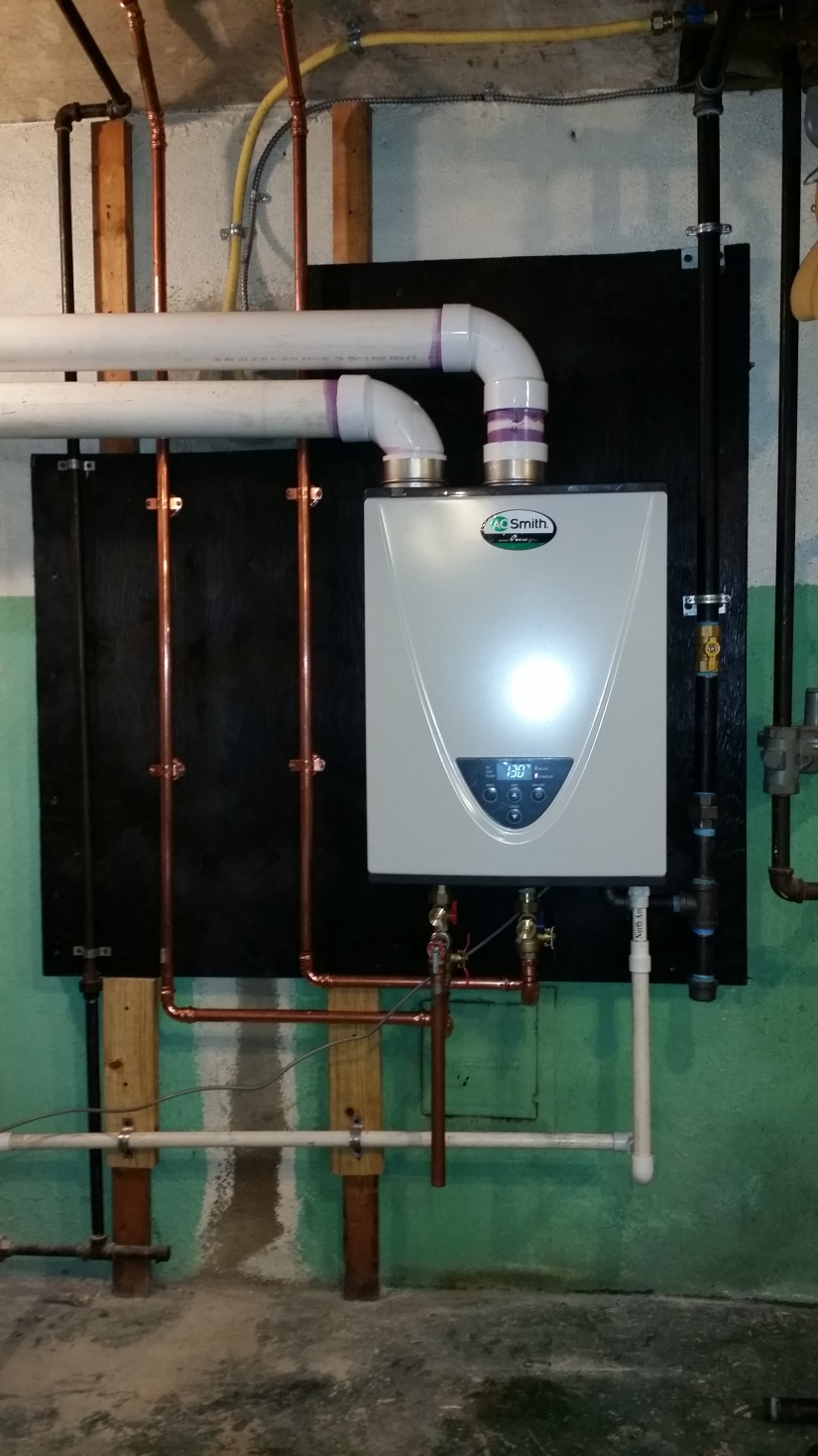 tankless installation